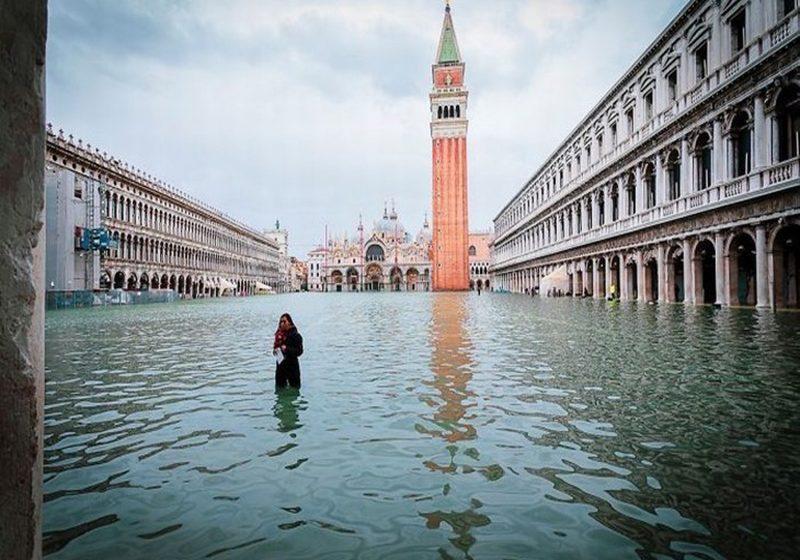 Así quedó la famosa plaza de San Marcos de Venecia, todo debido al cambio climático