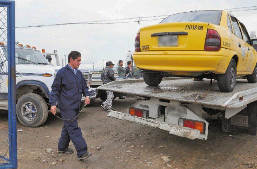 En servicio plataforma para tramitar sobre vehículos inmovilizados