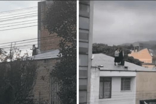 En el techo y con parlante, monjas rezaron frente a vecinos y las bajaron a punta de metal