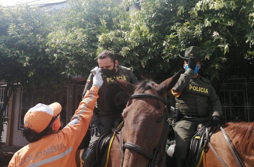Policías a cuarentena en prevención contra el covid-19