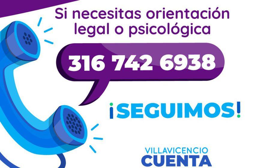 """""""Cuídese del coronavirus y de la violencia de género"""" campaña de la oficina de la mujer en Villavicencio"""