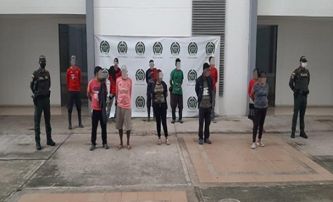 11 personas capturadas por ingreso ilegal a Inírida vulnerando las medidas de prevención