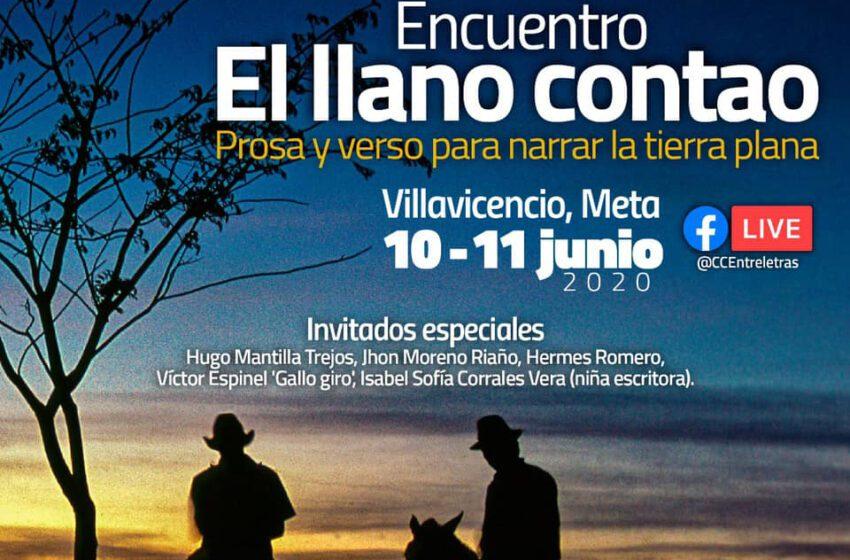 """Encuentro """"El Llano contado prosa y verso para narrar la tierra plana"""" hoy a las 10:00 por Facebook"""