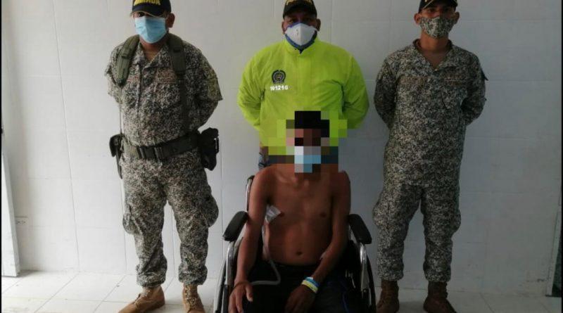 """Capturado alias """"Juan"""" sospechoso por ataque a patrulla fluvial en Cumaribo Vichada"""