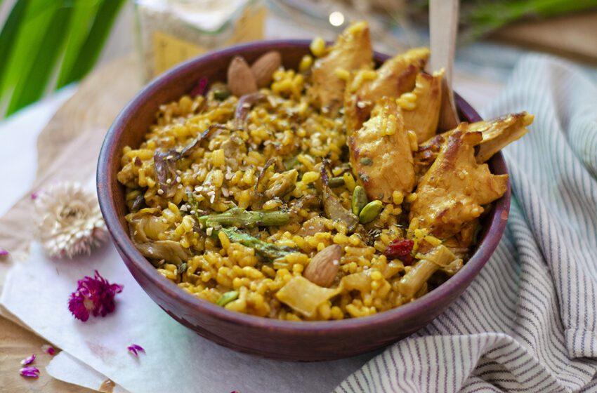 Arroz al curry con vegetales ¡Simplemente delicioso!