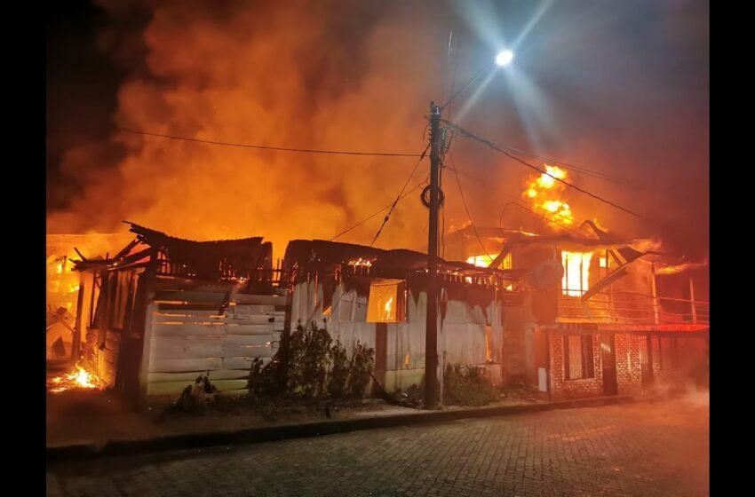 Testimonio de quien se salvó en el incendio de Mitú