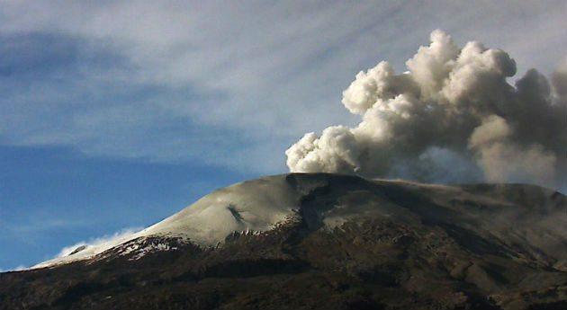 Entró en actividad sísmica el Volcán del Ruiz