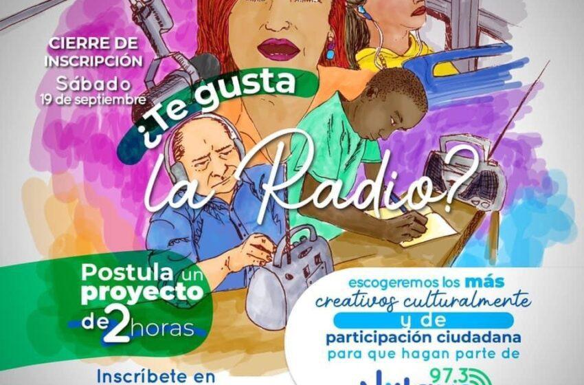 Abren convocatoria radial para programas culturales y de participación ciudadana