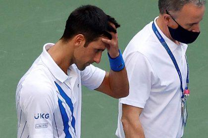 [Video] Djokovic, eliminado del US Open por tumbar de un pelotazo a una juez
