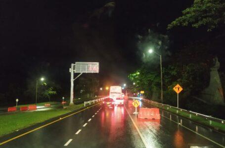 Constante monitoreo en la vía a Bogotá bajo lluvias en algunos tramos