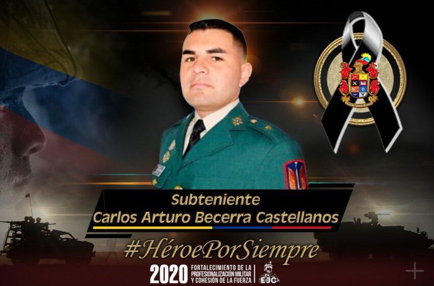 Confirman el asesinato de Subteniente del ejército desaparecido