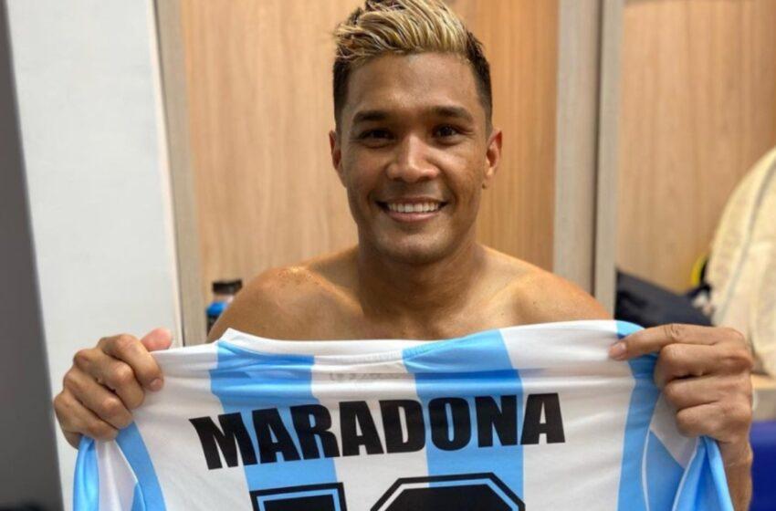 Junior ganó en Copa Sudamericana y 'Teo' se lo dedicó a Maradona