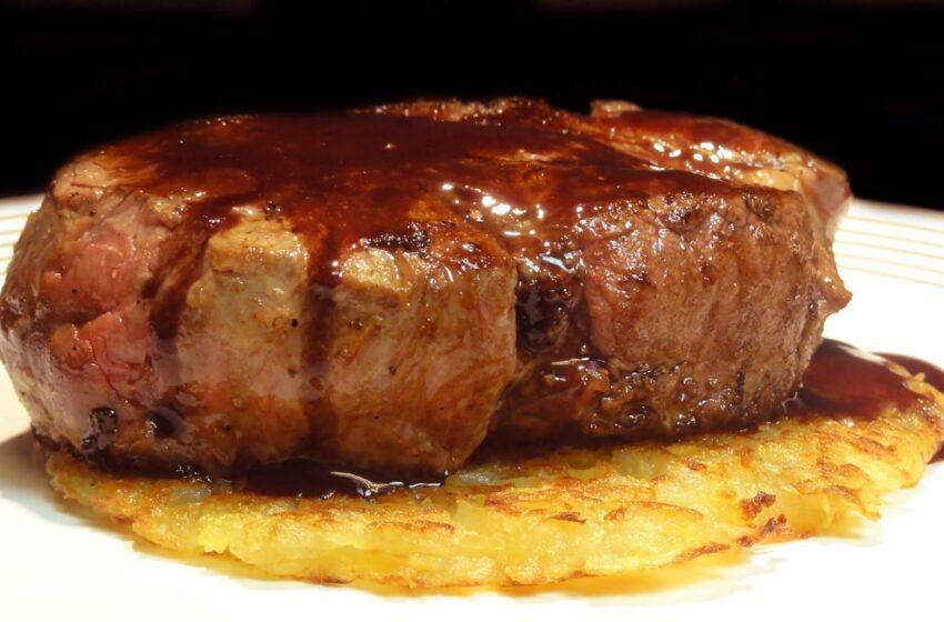 Rico almuerzo: Filet Mignon ¡A disfrutar!