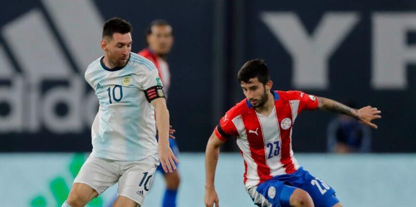 Argentina empató con Paraguay y es líder provisional de la eliminatoria, pero por un punto