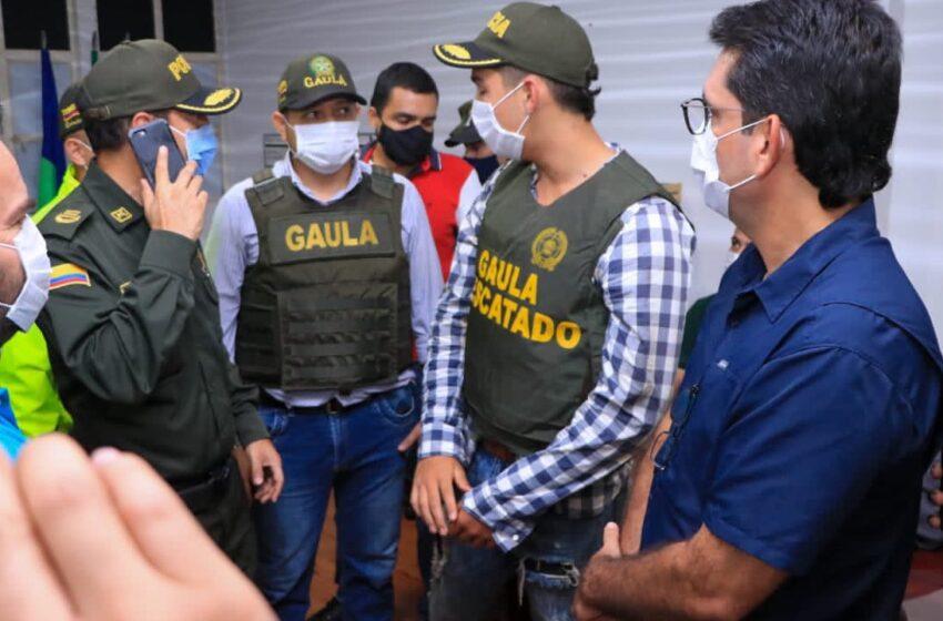 Liberado joven secuestrado. El Gobernador hace reconocimiento a ejército, policía y ciudadanos