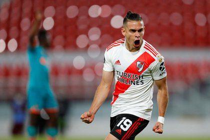 ¡Borré, imparable! Anotó con River en Libertadores y superó a Falcao