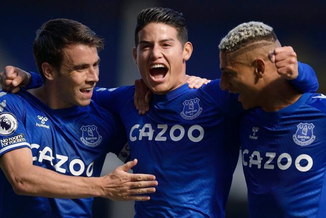 Volvieron con todo los elogios para James en Inglaterra, por victoria del Everton