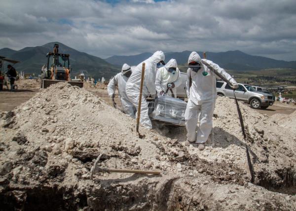 México reporta 1.314 decesos por la covid-19, el máximo durante la pandemia