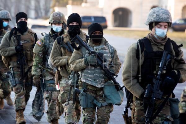 Amplían a más de 20.000 el número de soldados desplegados para la investidura de Joe Biden