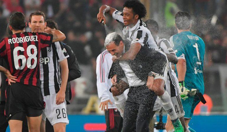 Cuadrado, finalista con Juventus en Copa Italia; Colombia aseguró campeón