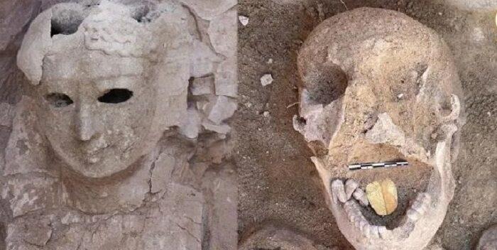 Arqueólogos hallan ostentosas momias de hace miles de años con lenguas de oro