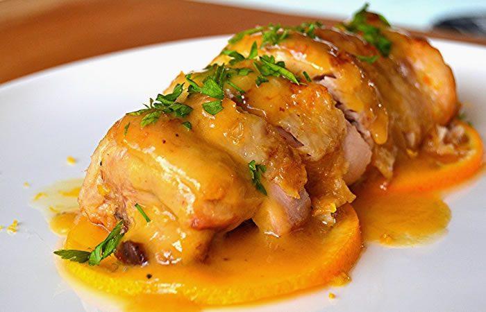 Pollo a la naranja