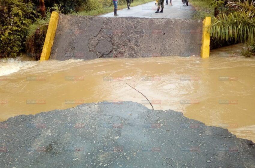 45 veredas incomunicadas por caída de puente entre Vista Hermosa y Puerto Lucas