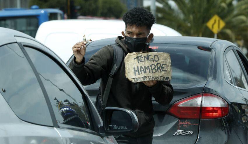 La pobreza en Colombia subió al 42,5 % en 2020 impulsada por la pandemia