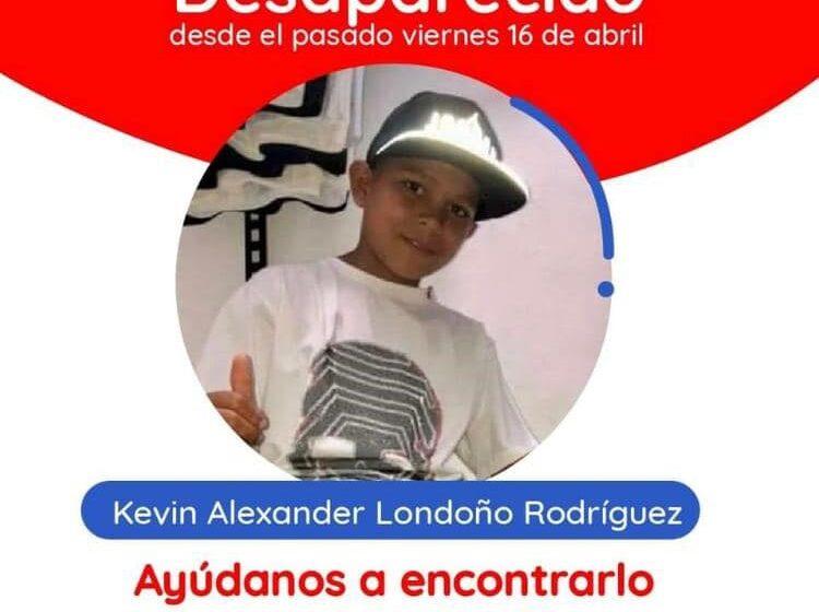 Gobierno local mantiene recompensa de $10 millones por el niño Kevin Londoño