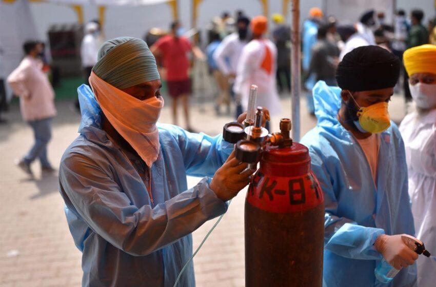 India se acerca a los 20 millones de contagios entre una escasez de oxígeno