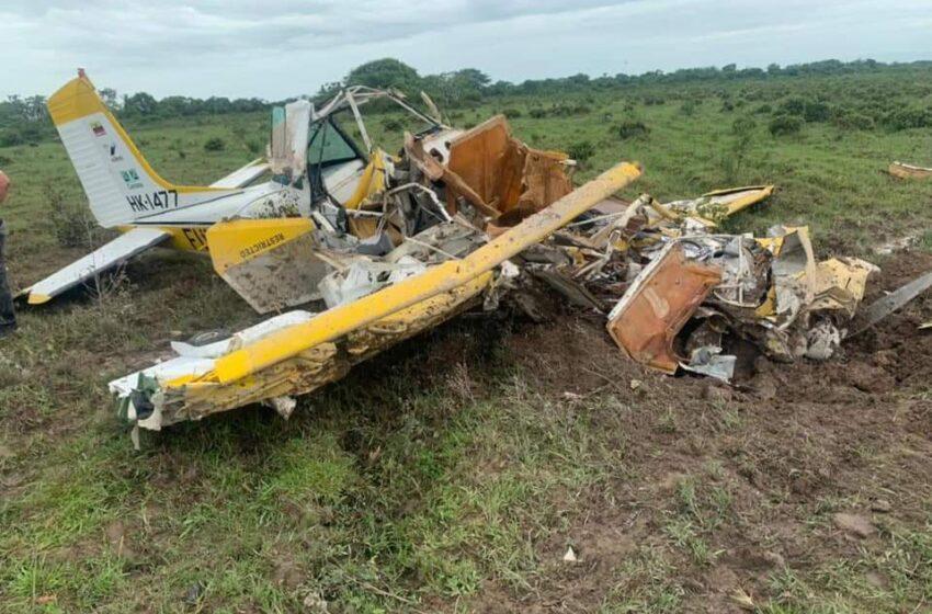 Piloto perdió la vida al estrellarse la avioneta en Casanare