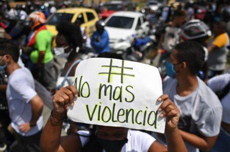 El pueblo de Villavicencio se manifestó protestando en paz