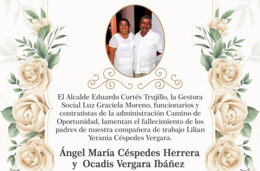 Solidaridad de la Administración de Acacías para con funcionaria que perdió a sus padres