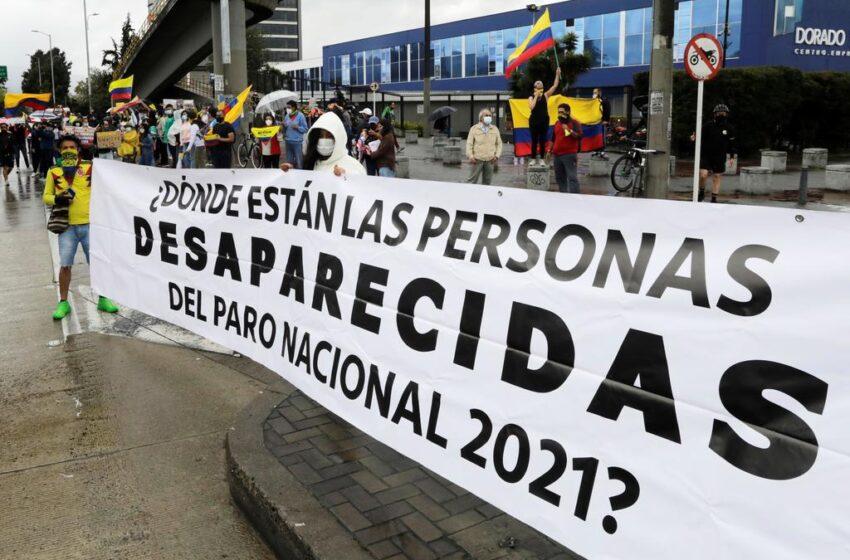 Aún hay 91 personas reportadas como desaparecidas en protestas en Colombia