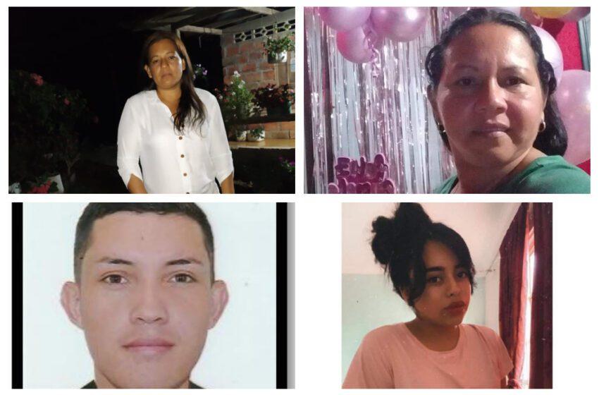 $20 millones de recompensa por información sobre las 4 personas desaparecidos en Mesetas