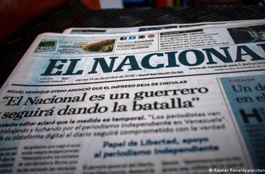 La Justicia venezolana eleva de 13 a 30 millones una multa al diario El Nacional