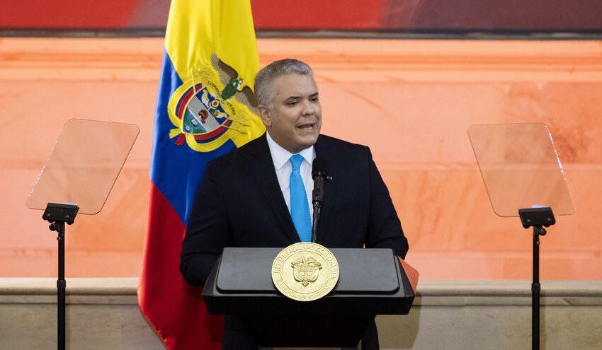 Duque reconoce «deuda histórica» con los más pobres de Colombia