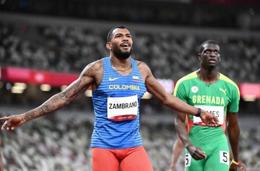 Anthony Zambrano, medallista de plata en los 400 metros planos de Juegos Olímpicos