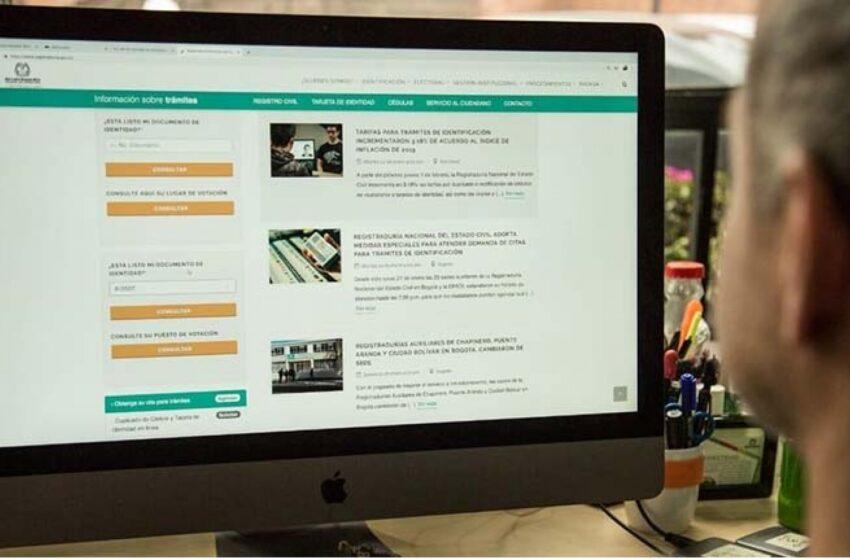 La Registraduría alerta a la ciudadanía sobre suplantación de su página oficial