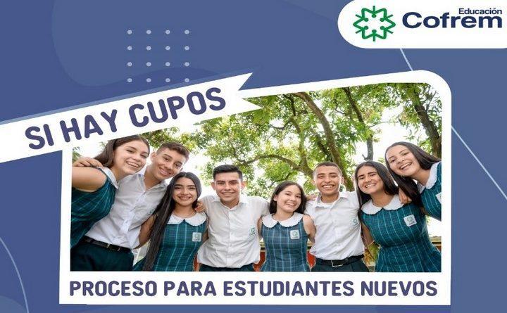 Existe cupo para niños y jovenes en Colegio Cofrem de Restrepo