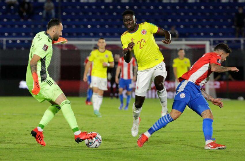 Paraguay y Colombia empatan en partido dominado por los cafeteros