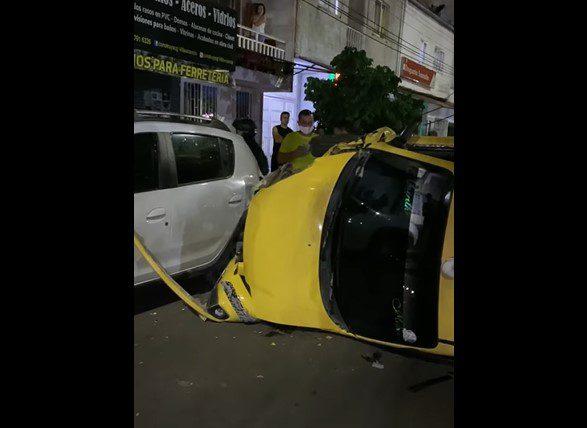 Imprudencia de los conductores la causa del accidente de dos taxis en la capital del Meta