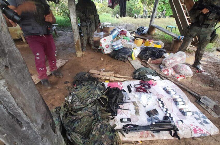 El Ejército de Ecuador descubre base de descanso de grupo armado ilegal