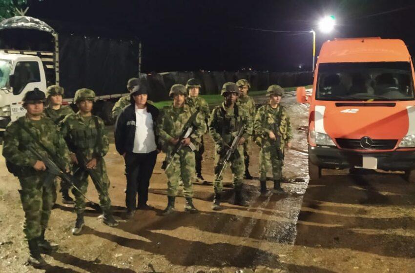 Rescatado conductor de una buseta Aerovan retenida por hombres armados en el sur del Meta