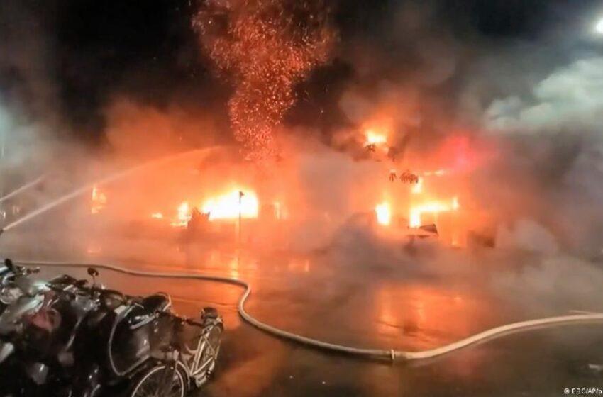Aumentan a al menos 46 los muertos en un incendio en el sur de Taiwán