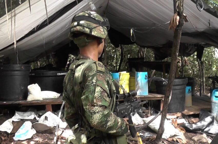 Inmenso laboratorio para procesar hoja de coca desmanteló el ejército en Guaviare